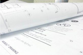 พิมพ์แบบแปลนด่วน กระดาษขาว